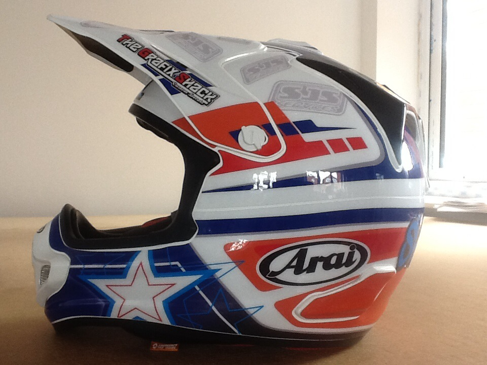 MX Helmet Graphic Printing, Custom MX Graphic Printing